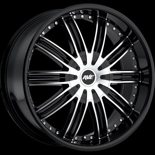15 Inch Tires >> Avenue 603 Rims (Gloss Black) | 18 X 7.5, 20 X 8, 22 X 9.5 ...