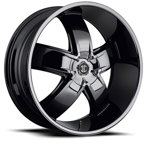 Crave Number 18 Black Chrome 20 X 8.5 Inch Wheels