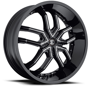 Crave Number 20 Gloss Black with Gloss Black Inserts 20 X 8 Inch Wheels
