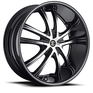 Crave Number 24 Black with Machined Stripe 22 X 8.5 Inch Wheels