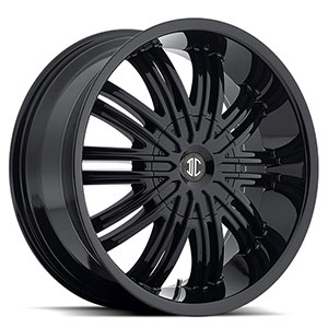 Crave Number 7 Gloss Black 20 X 9.5 Inch Wheels