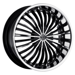2Crave Number 13 22X10.5 Black