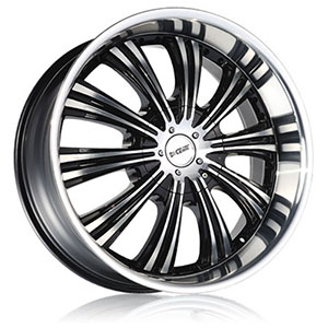 DCenti DW 909 Black Machined 22 X 9.5 Inch Wheel