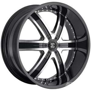 Crave Number 4 Black Machined Face 22 X 9.5 Inch Wheels