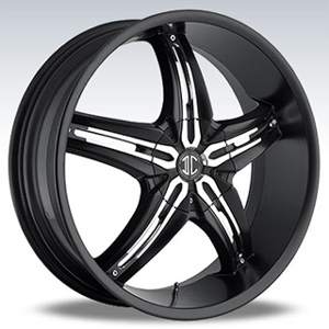 Crave Number 5 Black Chrome Inserts 1 17 X 7.5 Inch Wheels
