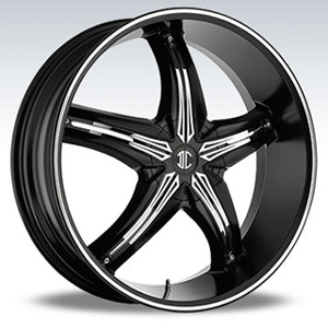 Crave Number 5 Black Chrome Inserts 2 Diamond 18 X 7.5 Inch Wheels