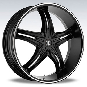 Crave Number 5 Black Diamond 17 X 7.5 Inch Wheels