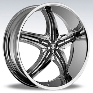 Crave Number 5 Chrome Black Inserts 1 - 20 Inch Wheels