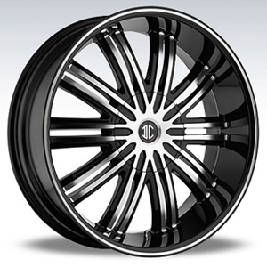 Crave Number 7 Black Diamond 22 X 9.5 Inch Wheels