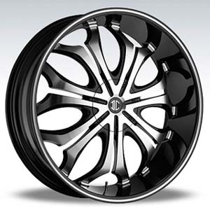 Crave Number 8 Black Diamond 24 X 9 Inch Wheels