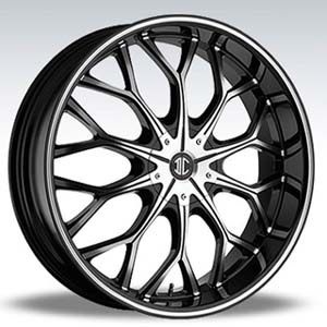 Crave Number 9 Black Diamond 20 X 8 Inch Wheels