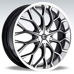 Crave Number 9 Machine Black 22 X 8 Inch Wheels