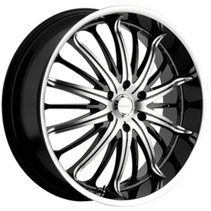Akuza 761 Belle Black 22 X 9.5 Inch Wheel