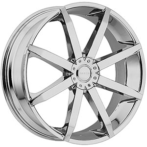 Akuza 843 Zenith Chrome 20 X 8.5 Inch Wheel
