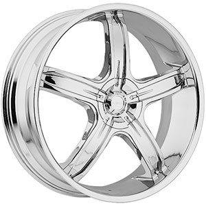 Akuza 844 Lever Chrome 28 X 9.5 Inch Wheel
