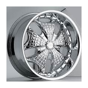 Akuza 345 Chrome 20 X 8.5 Inch Wheel