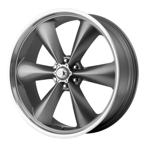 American Racing  AR104 Torq Thrust St 20X8.5 Magnesium Gray With Mach Lip