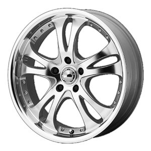 American Racing  AR383 Casino 16X7 Silver Machined