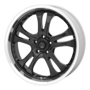 American Racing  AR393 Casino 16X7 Gloss Black With Diamond Cut Lip