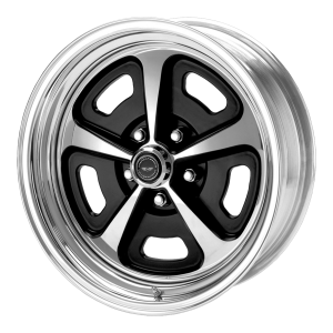 American Racing  AR500 17X7 2-Piece Gloss Black/Polished With Polished Rim