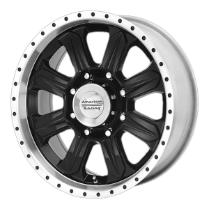 American Racing  AR619 Fuel 17X8 Gloss Black With Diamond Cut Lip