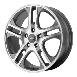 American Racing  AR887 Axl 16X7 Dark Silver With Mach Face