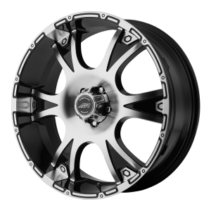 American Racing  AR889 Dagger 17X8 Gloss Black With Machined Face