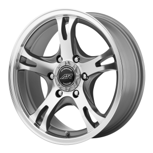 American Racing  AR898 17X8 Dark Silver Machined