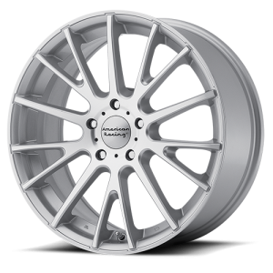 American Racing AR904 17X7 Silver with Machined Face