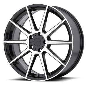 American Racing AR908 18X8 Gloss Black with Machined Face