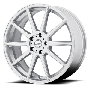 American Racing AR908 18X8 Silver with Machined Face