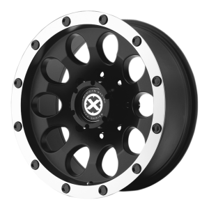 American Racing  AX186 Slot 15X10 Satin Black With Machined Face