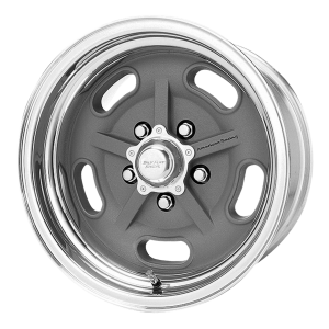 American Racing  VN470 Salt Flat 15X14 Mag Gray Center Polished Barrel