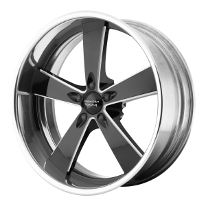 American Racing  VN472 Burnout 18X7 2-Piece Black Milled Center With Polished Rim