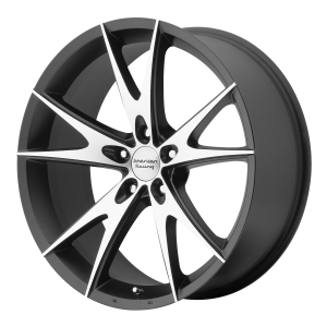 American Racing  VN815 Torq Thrust II 1 Pc 17X8 Gloss Black Machined