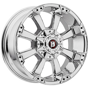 Ballistic Morax 845 Chrome 18 X 9 Inch Wheel