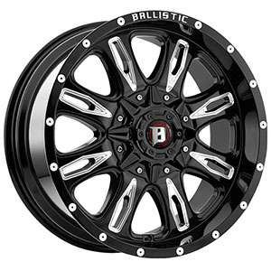 Ballistic Scythe 953 Gloss Black 18 X 9 Inch Wheel
