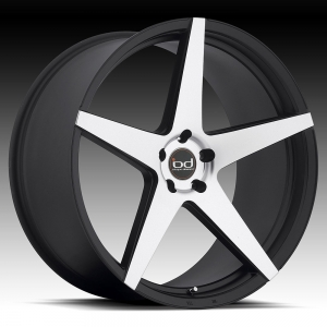 Blaque Diamond BD-300 22X10.5 Matte Black with Machined Face