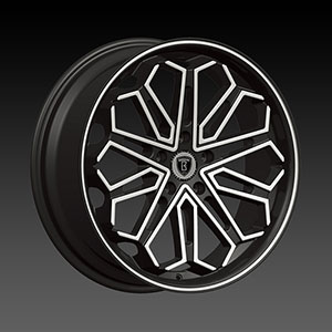 Borghini BW B17 22 X 9 Inch Black Machined Wheel
