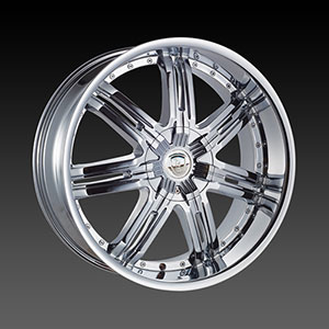 Borghini BW B25 22 X 9.5 Inch Chrome Wheel