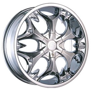 Borghini BW B3S 20 X 7.5 Inch Chrome Wheel