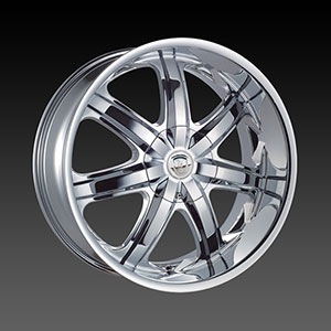 Borghini BW B7S 17 X 7.0 Inch Chrome Wheel