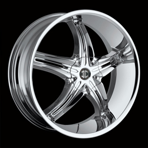 Crave Number 5 Chrome 17 X 7.5 Inch Wheels