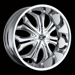 Crave Number 8 Chrome 24 X 9 Inch Wheels