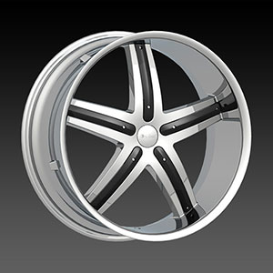 DCenti DW 9 Chrome 19 X 8 Inch Wheel