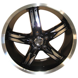 Devino Flawless DV 762 Gloss Black with Full Machined Lip 22 X 8.5 inch