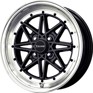 Drag DR 20 Gloss Black Machined Face 16 X 7 Inch Wheels