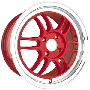 Drag DR 21 Red Machined Lip 15 X 7 Inch Wheels