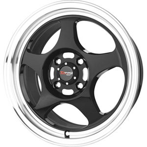 Drag DR 23 Gloss Black Machined Lip 16 X 7 Inch Wheels