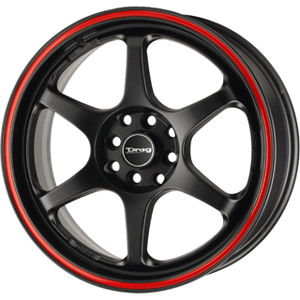 Drag DR 32 Flat Black w Red Stripe 18 X 7.5 Inch Wheels
